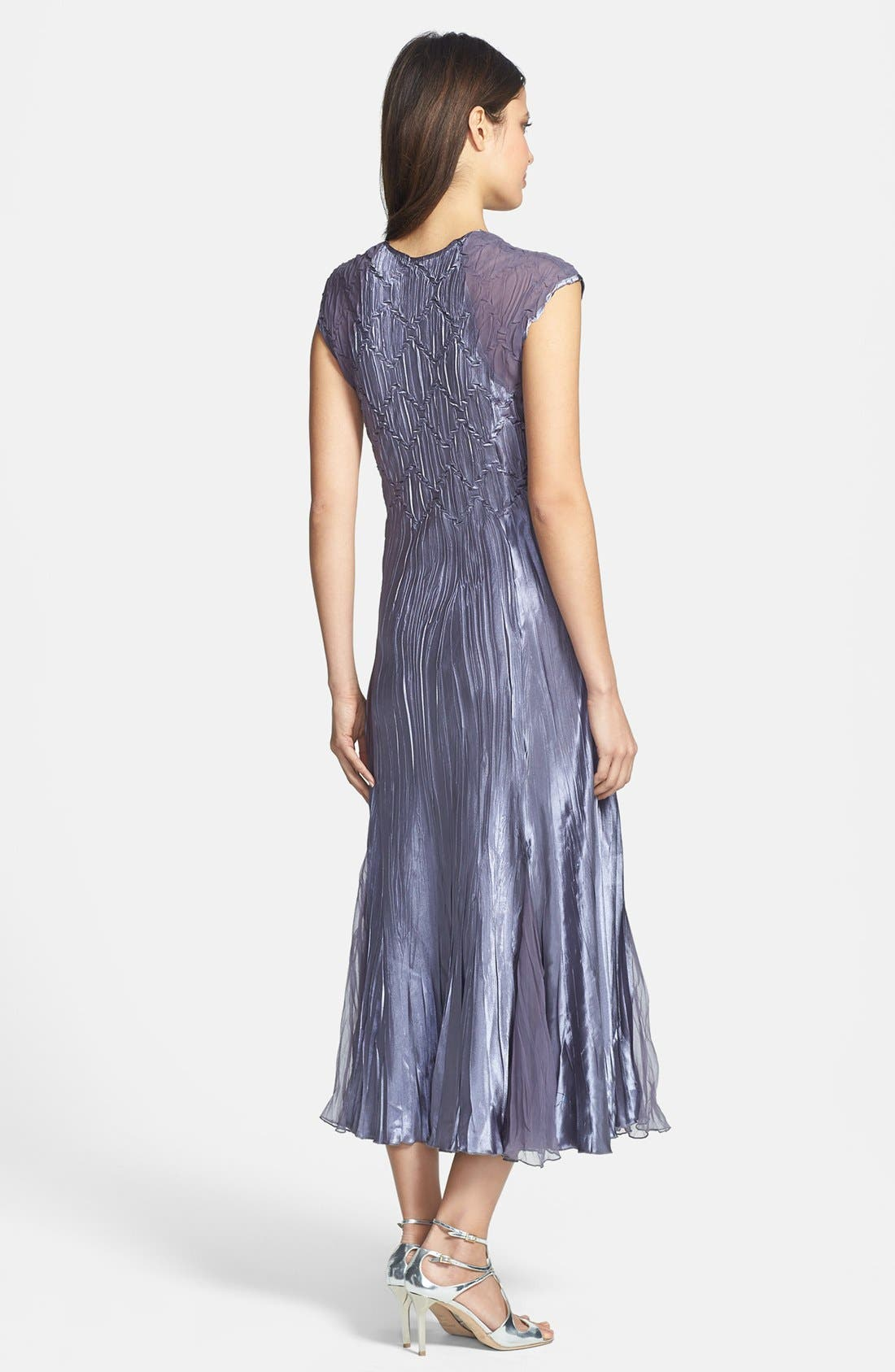 Alternate Image 2  - Komarov Sleeveless Satin Dress & Chiffon Jacket