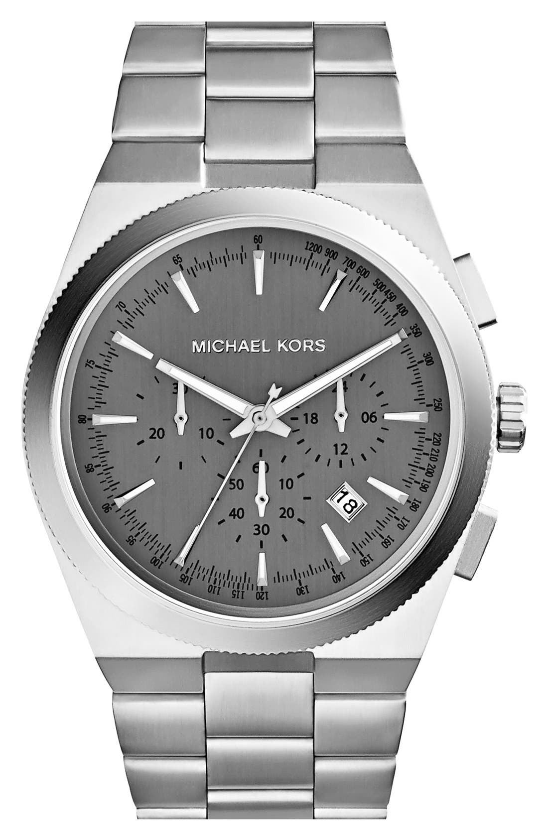 Main Image - Michael Kors 'Channing' Chronograph Bracelet Watch, 43mm