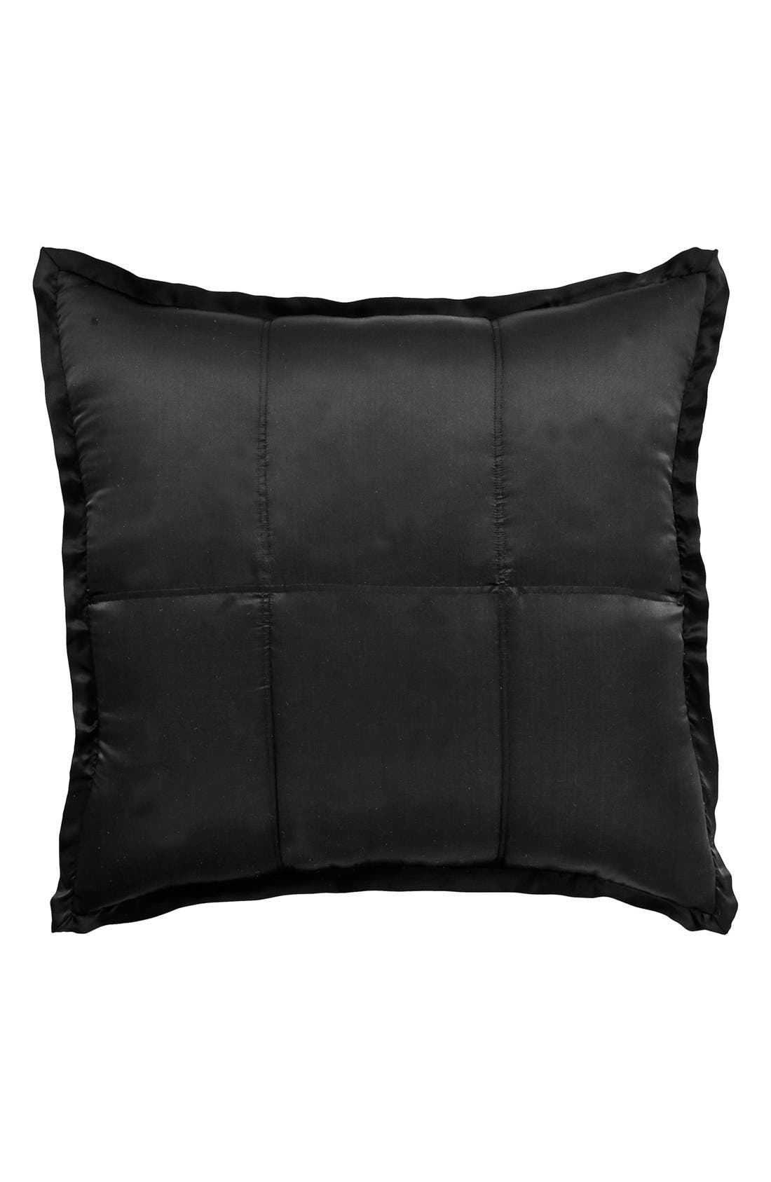 Donna Karan Collection 'Impression' Silk Euro Sham,                         Main,                         color, Ebony Black