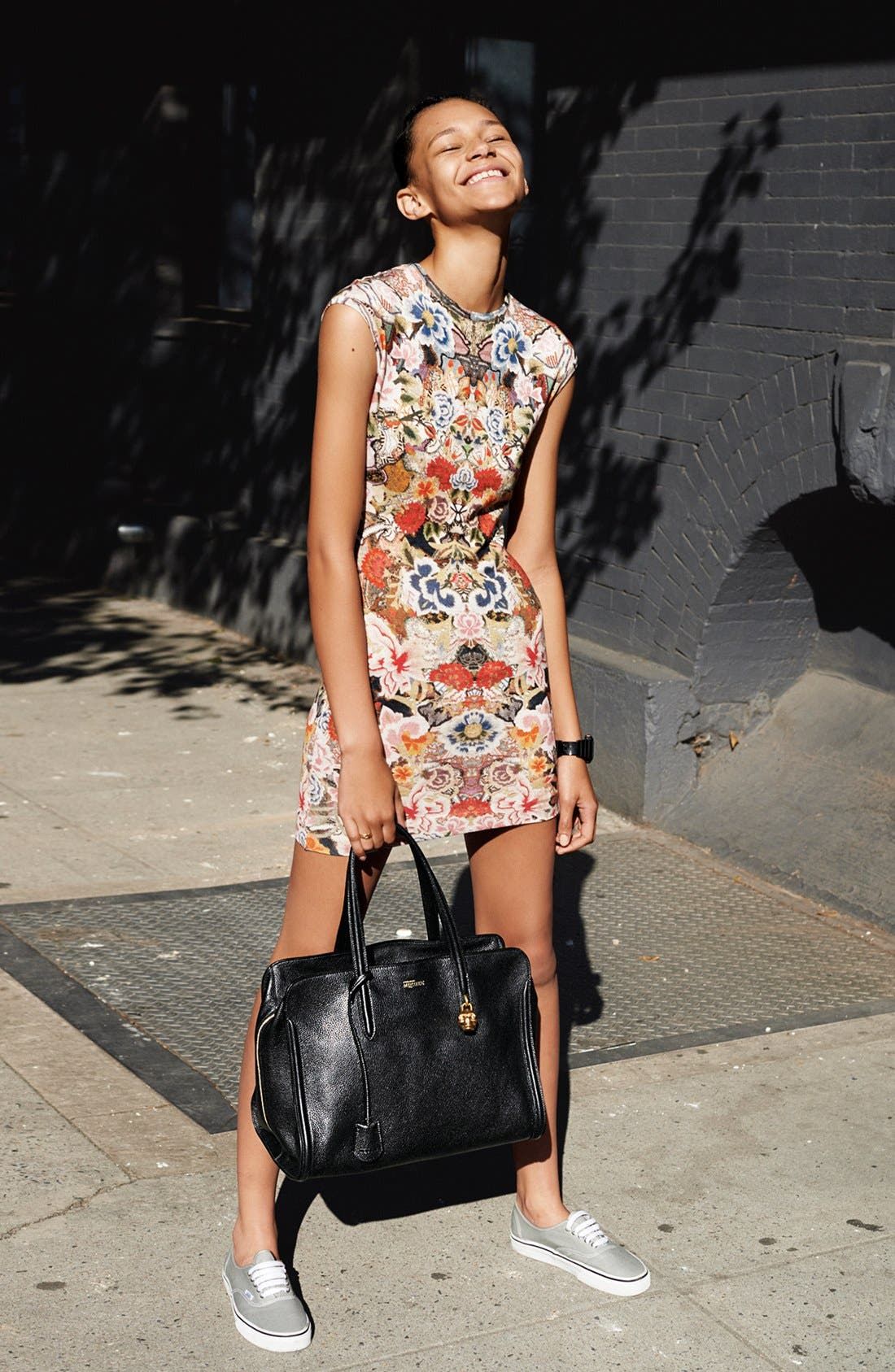 Main Image - Alexander McQueen Calfskin Duffel Bag & Dress