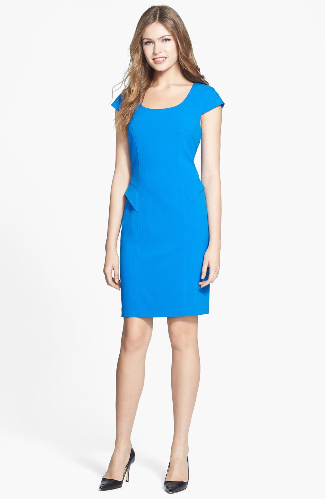 Main Image - Marc New York by Andrew Marc Cap Sleeve Peplum Dress