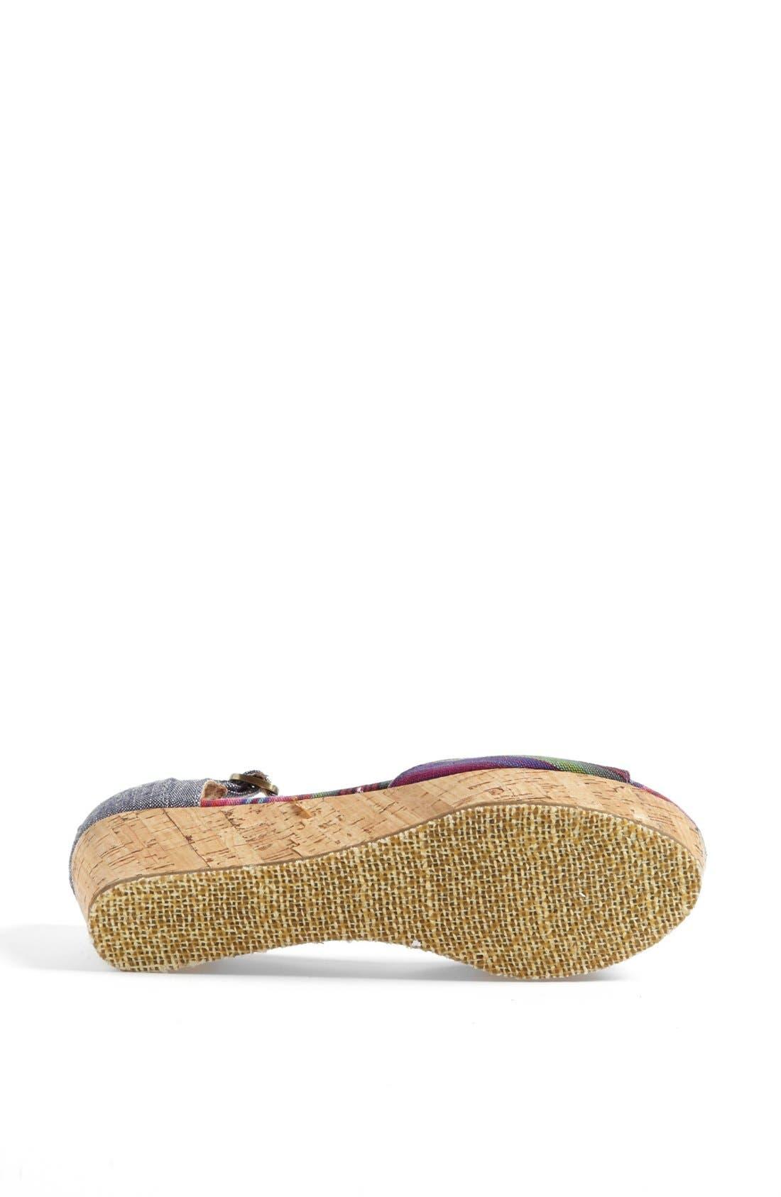 Alternate Image 4  - TOMS Platform Wedge Sandal (Women)