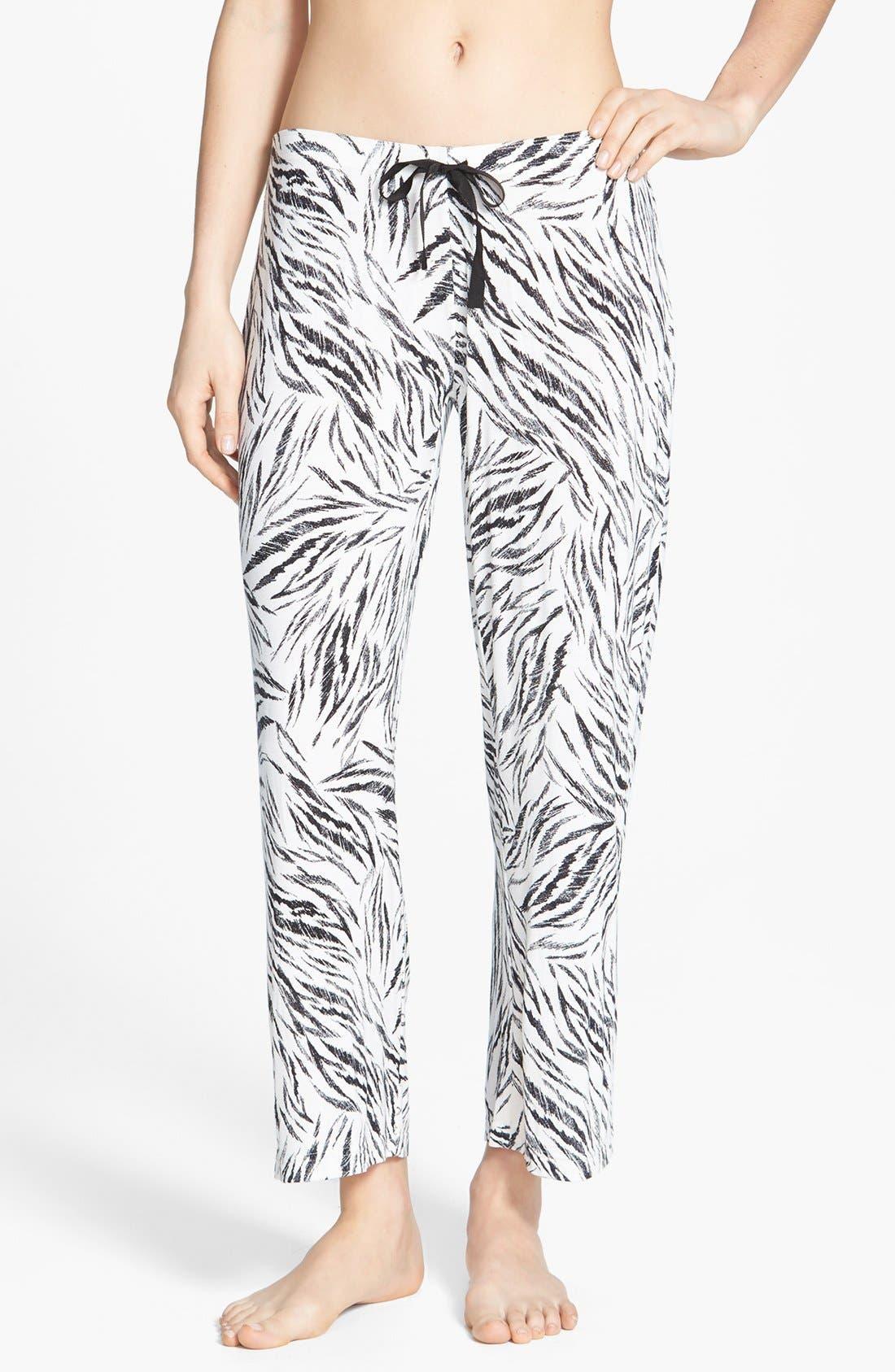 Main Image - PJ Luxe 'Tiger Stripe' Crop Pants