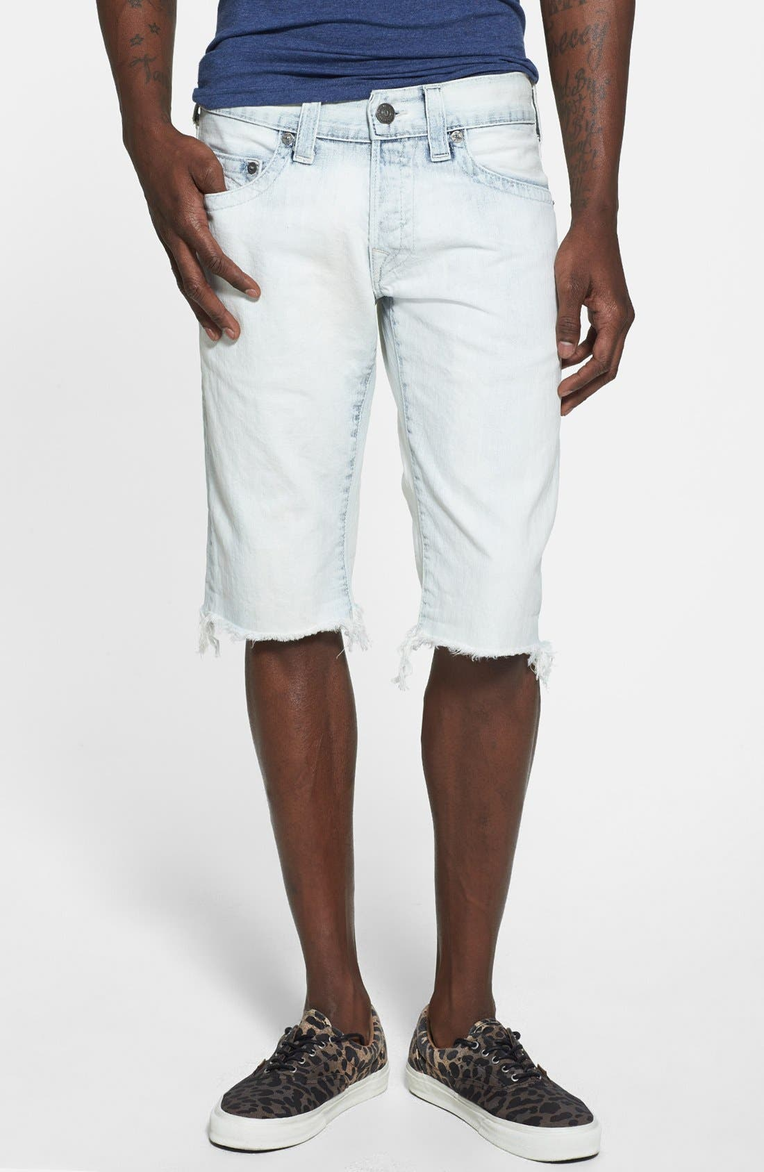 Alternate Image 1 Selected - True Religion Brand Jeans 'Geno' Cutoff Denim Shorts