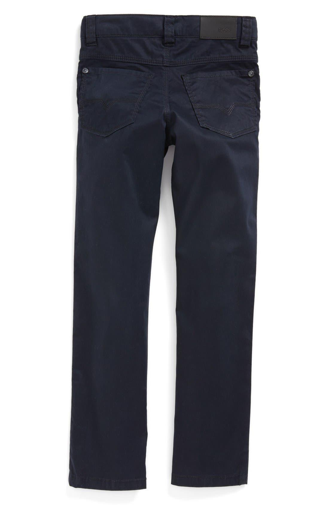 Alternate Image 2  - BOSS Kidswear Stretch Twill Jeans (Little Boys & Big Boys)