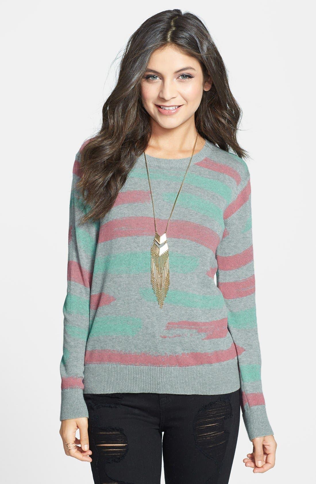 Alternate Image 1 Selected - BP. Stripe Cotton Pullover (Juniors)
