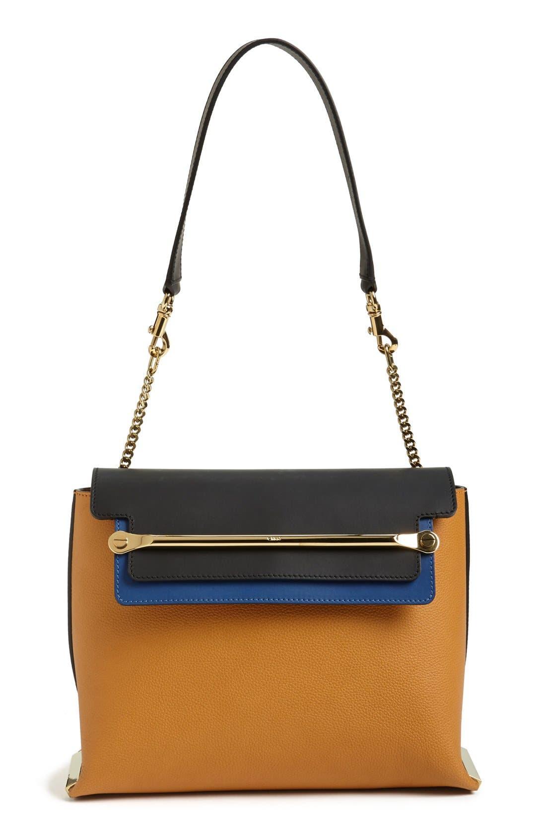 Main Image - Chloé 'Clare' Tricolor Leather Shoulder Bag
