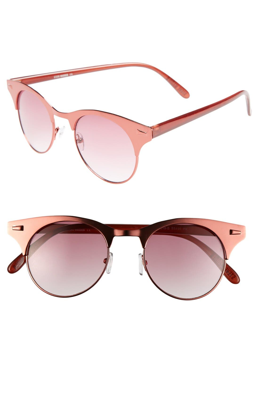 Alternate Image 1 Selected - Steve Madden 49mm Retro Metal Sunglasses