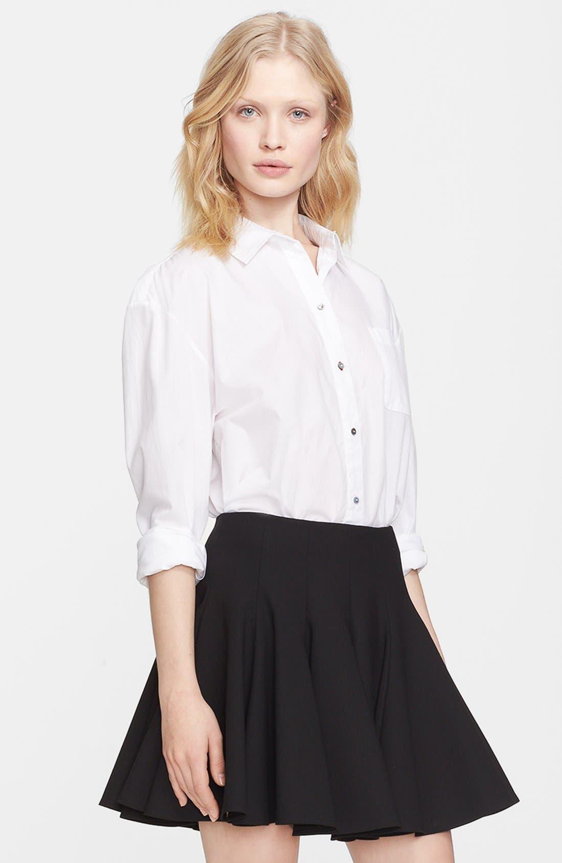 'Carine' Cotton Shirt,                         Main,                         color, White