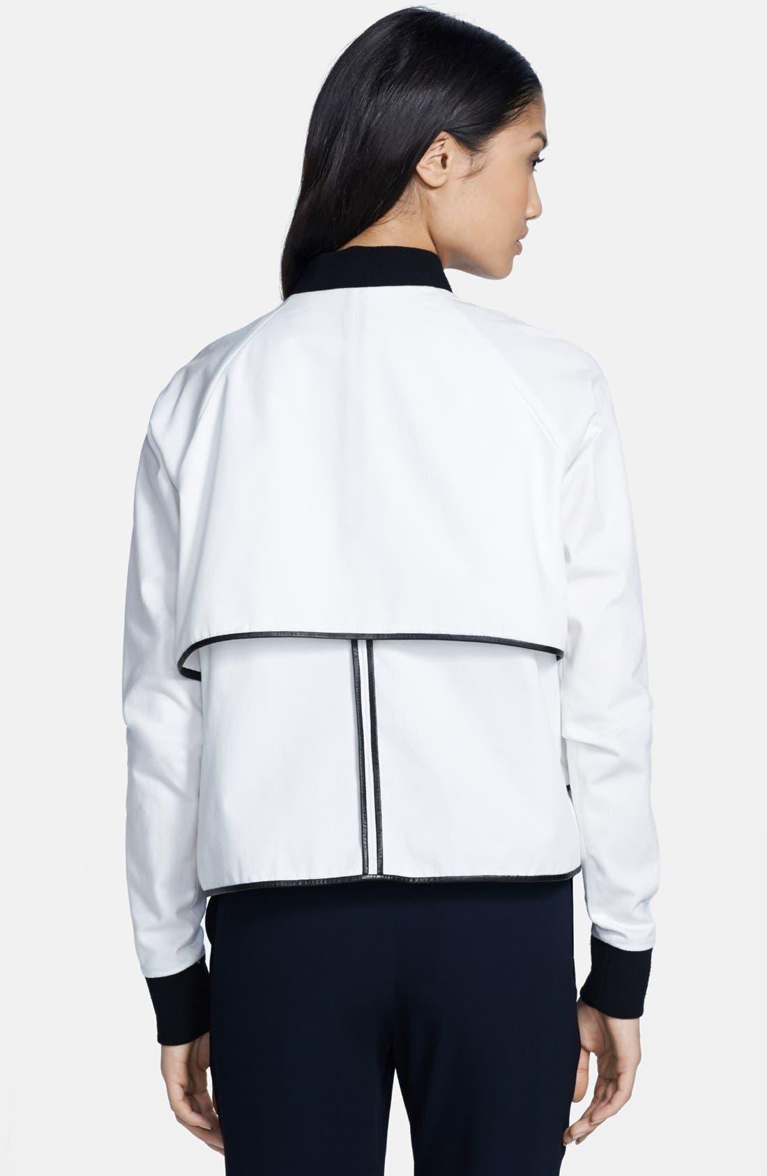 Alternate Image 2  - A.L.C. 'Hampton' Leather Trim Cotton Canvas Jacket