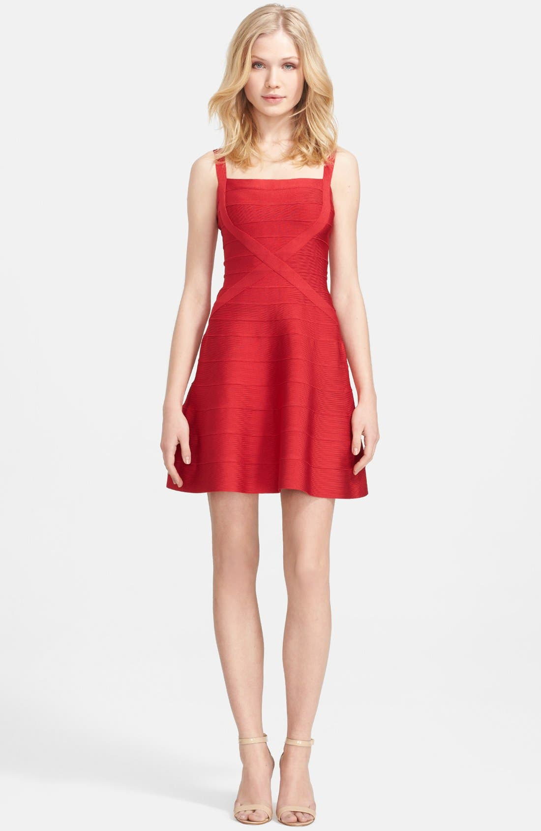 Main Image - Herve Leger A-Line Bandage Dress