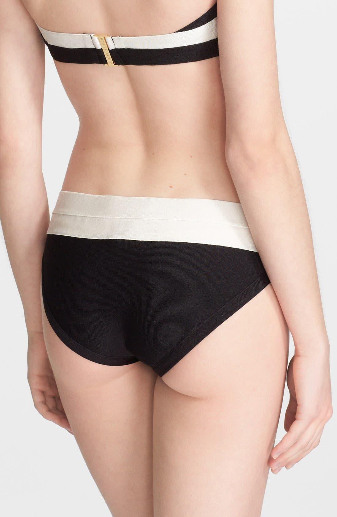 Alternate Image 6  - Herve Leger Black & White Bandage Two-Piece Bikini