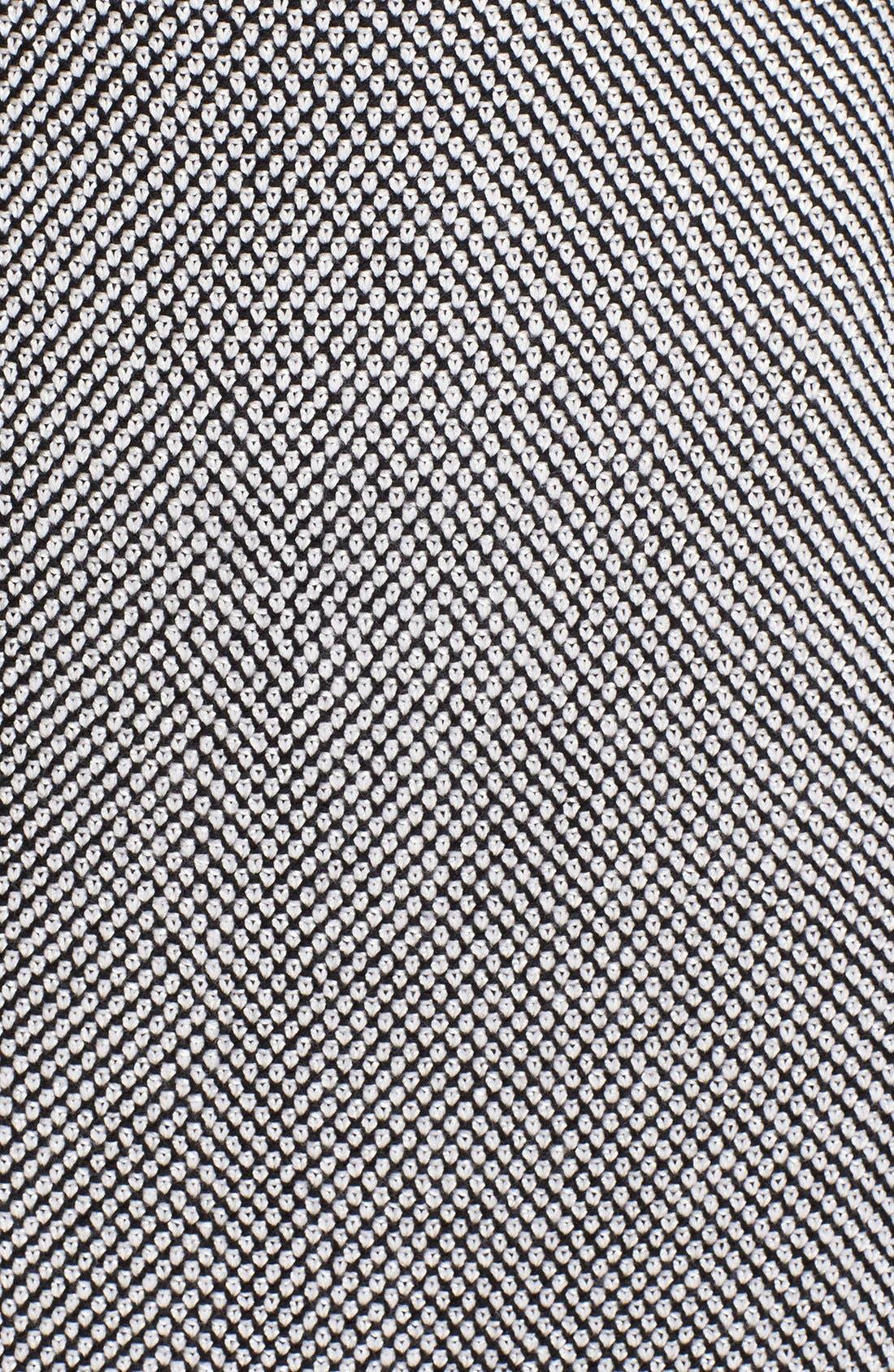 Alternate Image 5  - St. John Collection Bird's Eye Tweed & Crepe Marocain Skirt