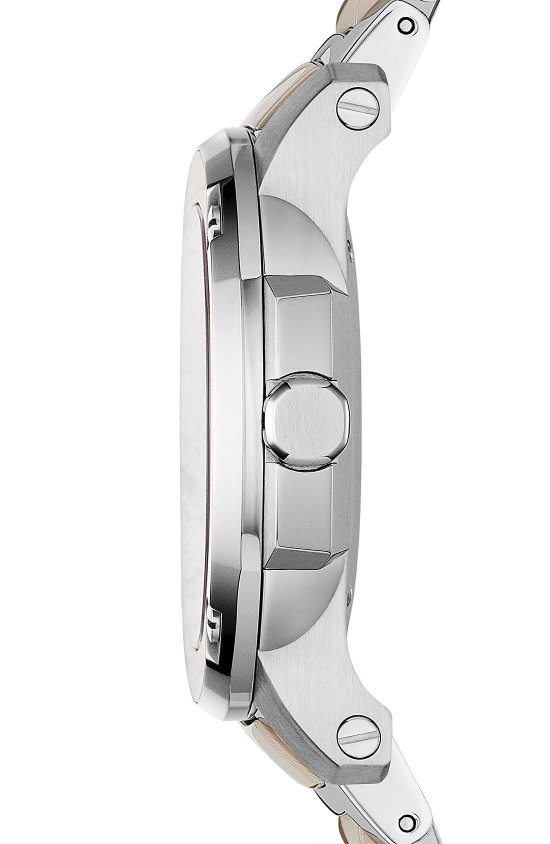 Alternate Image 4  - Burberry The Britain Ceramic Link Bracelet Watch, 34mm