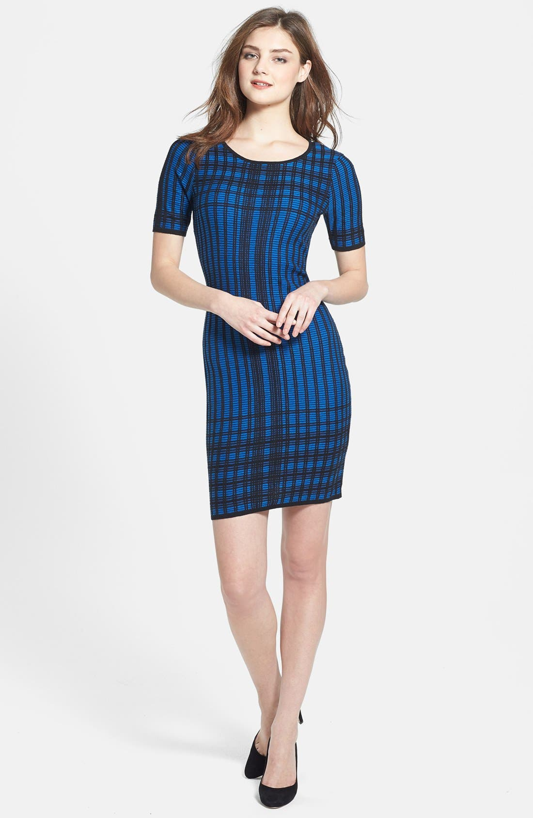 Main Image - Marc New York by Andrew Marc Short Sleeve Sweater Dress