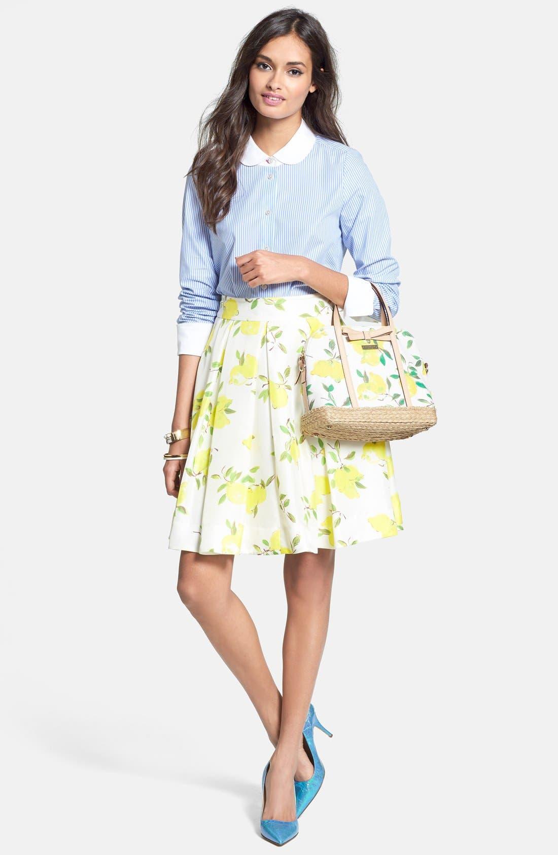 Alternate Image 4  - kate spade new york 'owen' print silk skirt