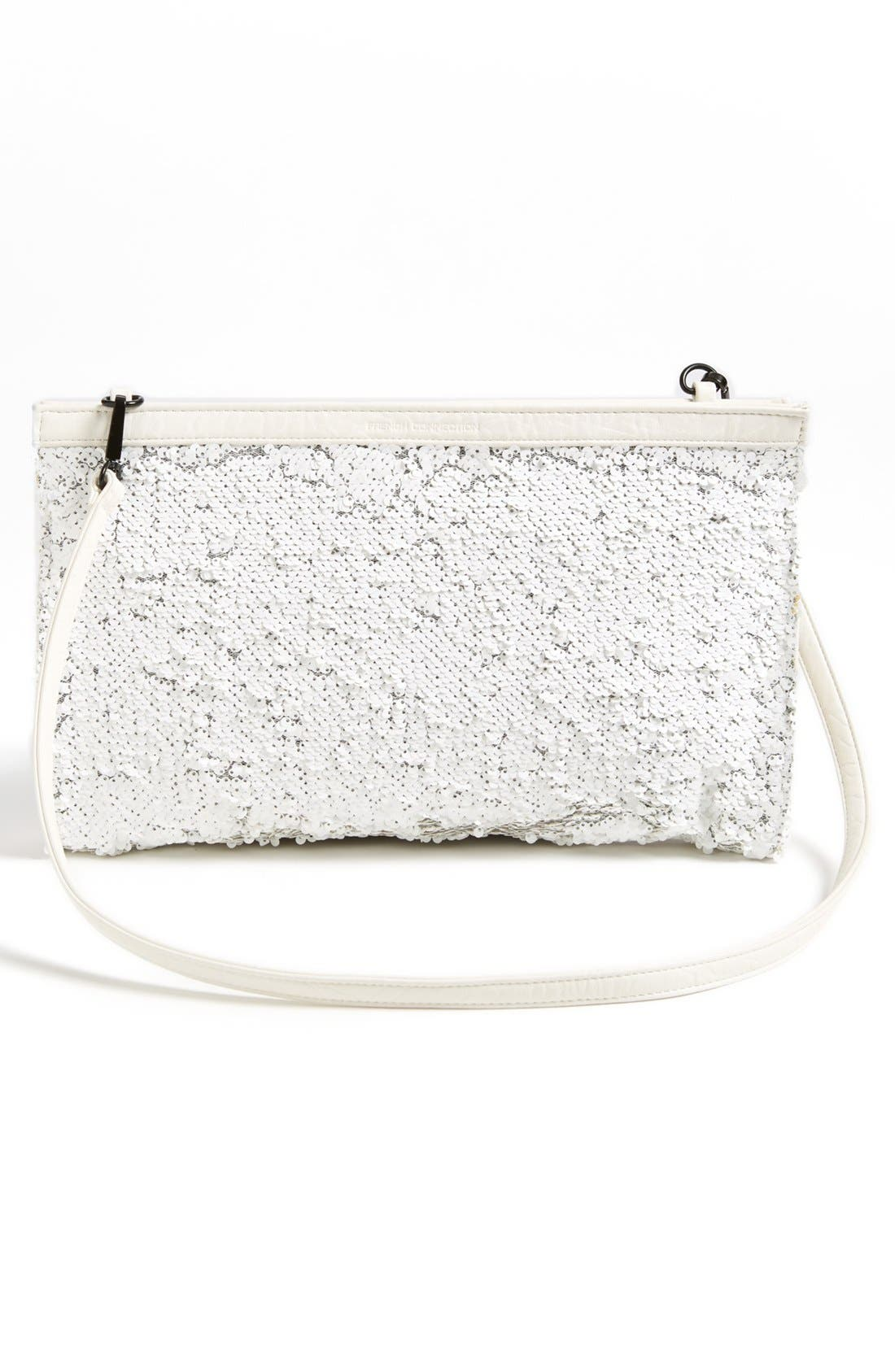 Alternate Image 3  - French Connection Sequin Convertible Clutch