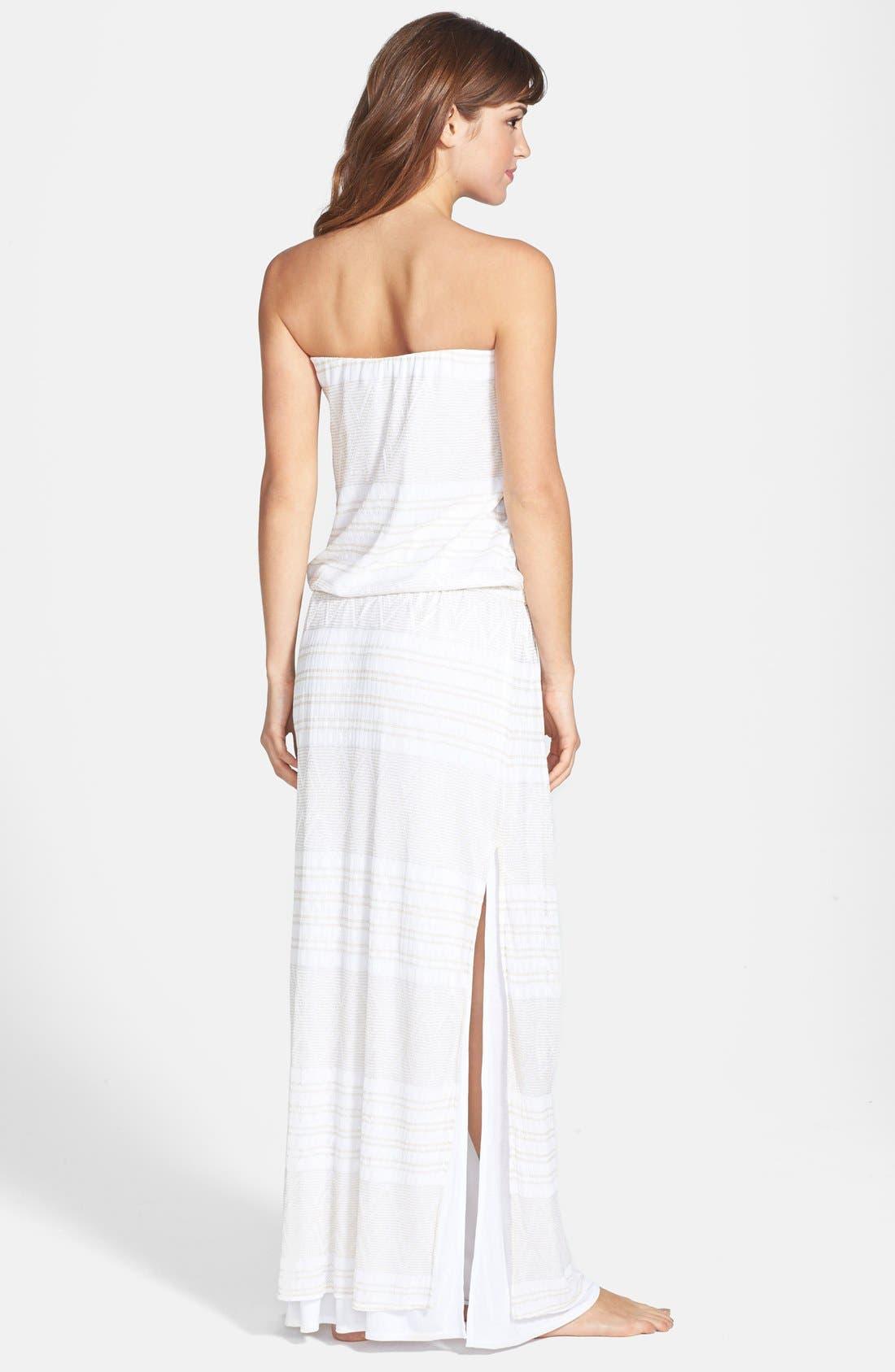 Alternate Image 2  - Vitamin A® 'Olivia' Strapless Crochet Maxi Dress