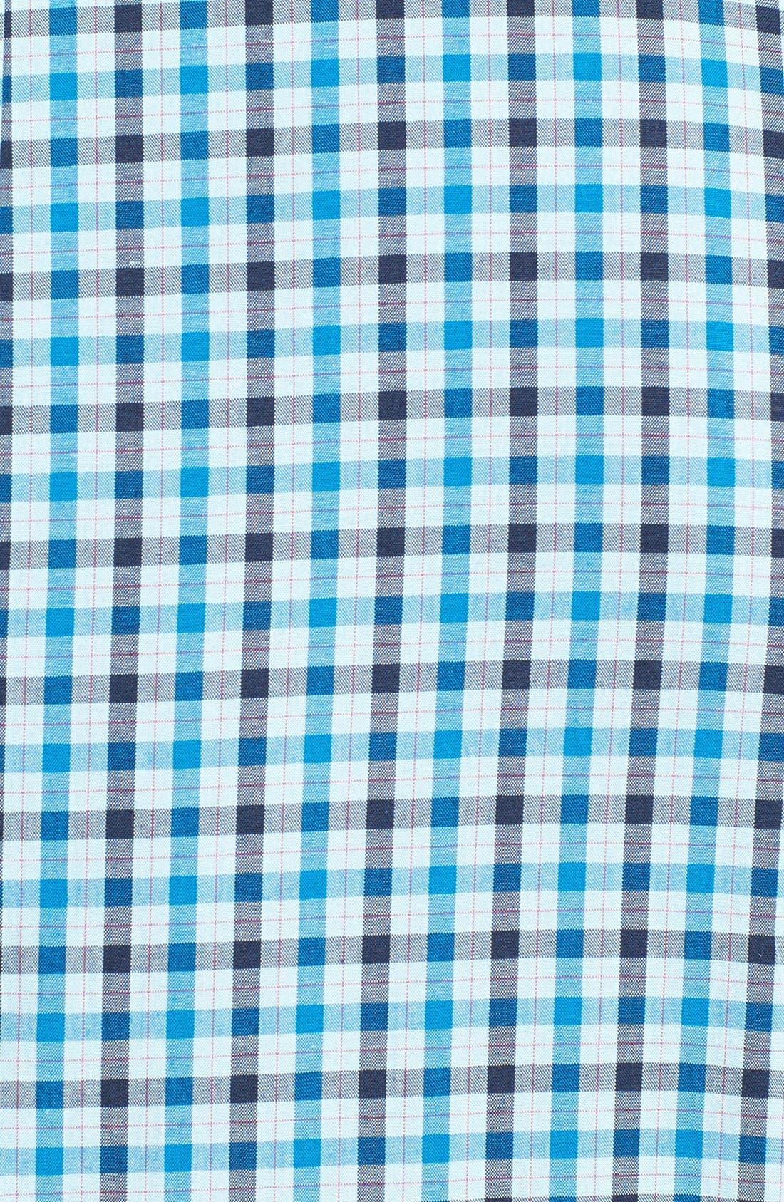 Check Woven Shirt,                             Alternate thumbnail 3, color,                             Porcelain Blue