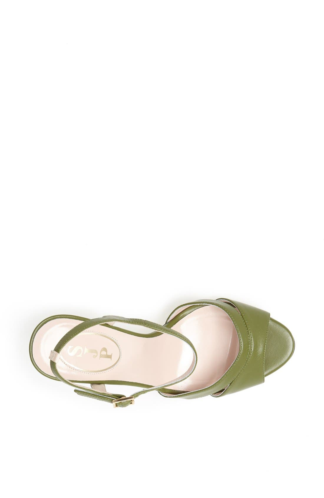 SJP 'Anna' Sandal,                             Alternate thumbnail 3, color,                             Green