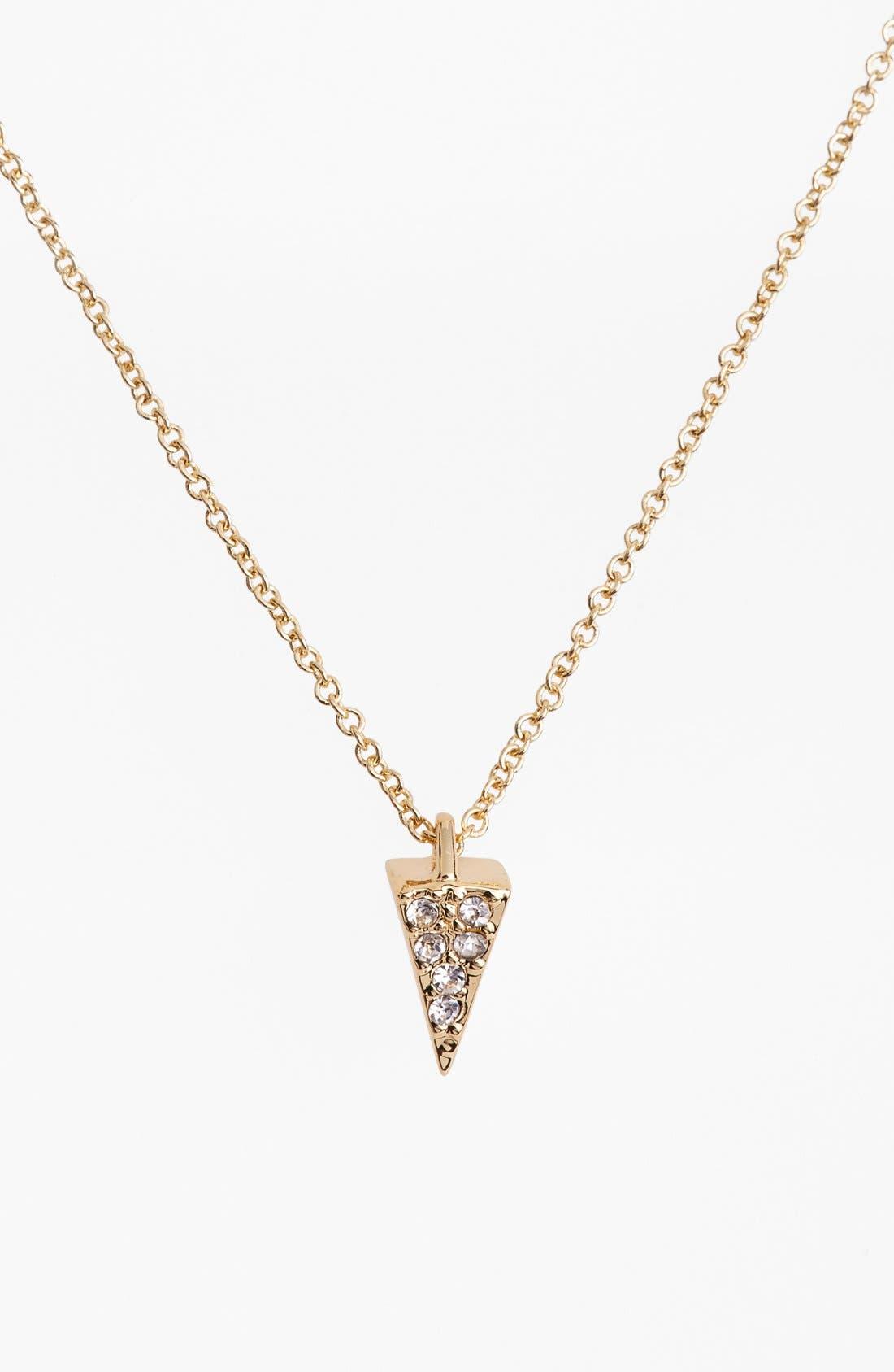 Main Image - Rebecca Minkoff 'Jewel Box' Pavé Mini Spike Pendant Necklace