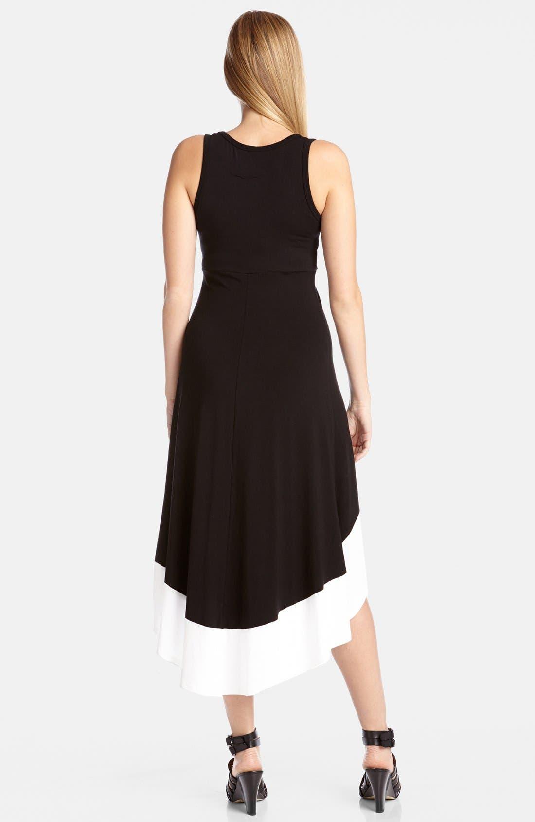Alternate Image 2  - Karen Kane High/Low Contrast Hem Dress
