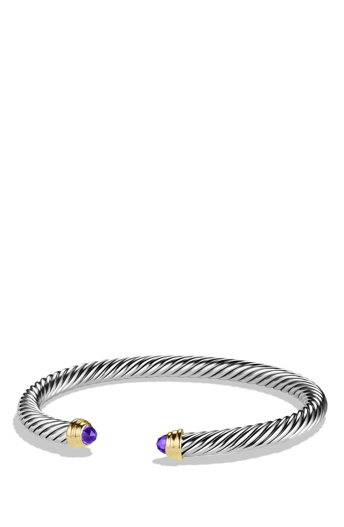 Alternate Image 1 Selected - David Yurman 'Cable Classics' Bracelet with Semiprecious Stones & Gold