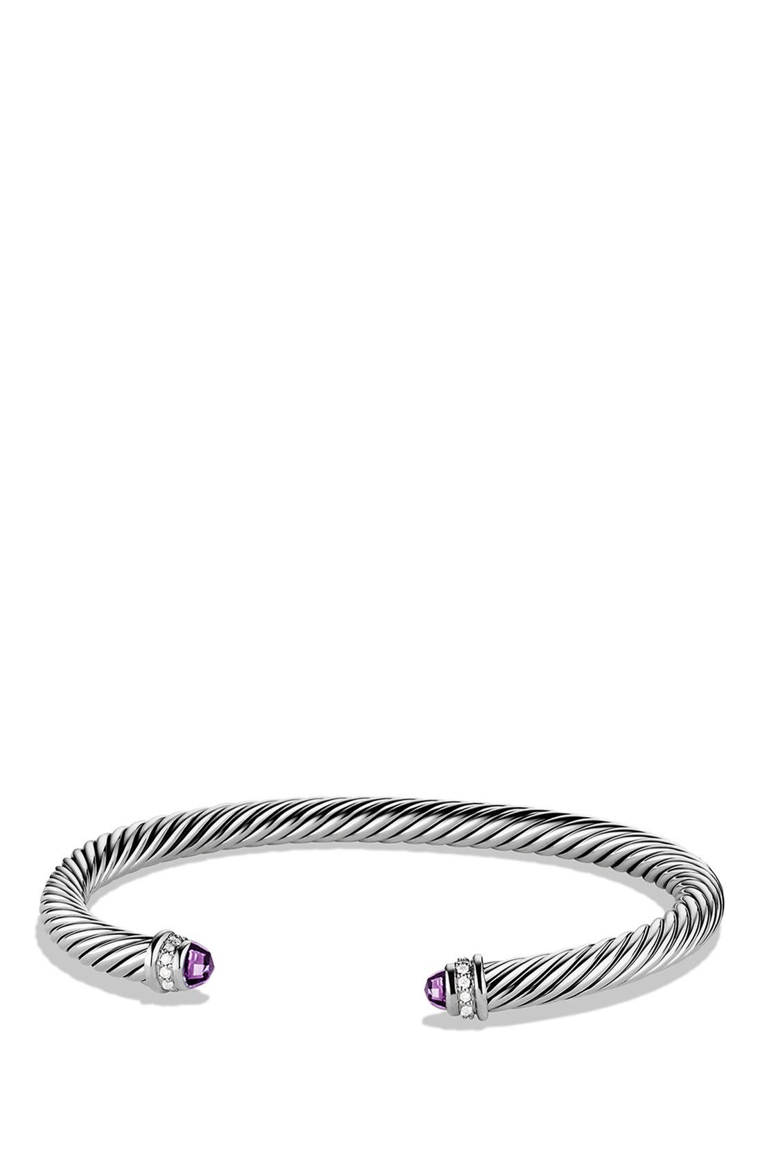 David Yurman 'Cable Classics' Bracelet with Semiprecious Stones & Diamonds