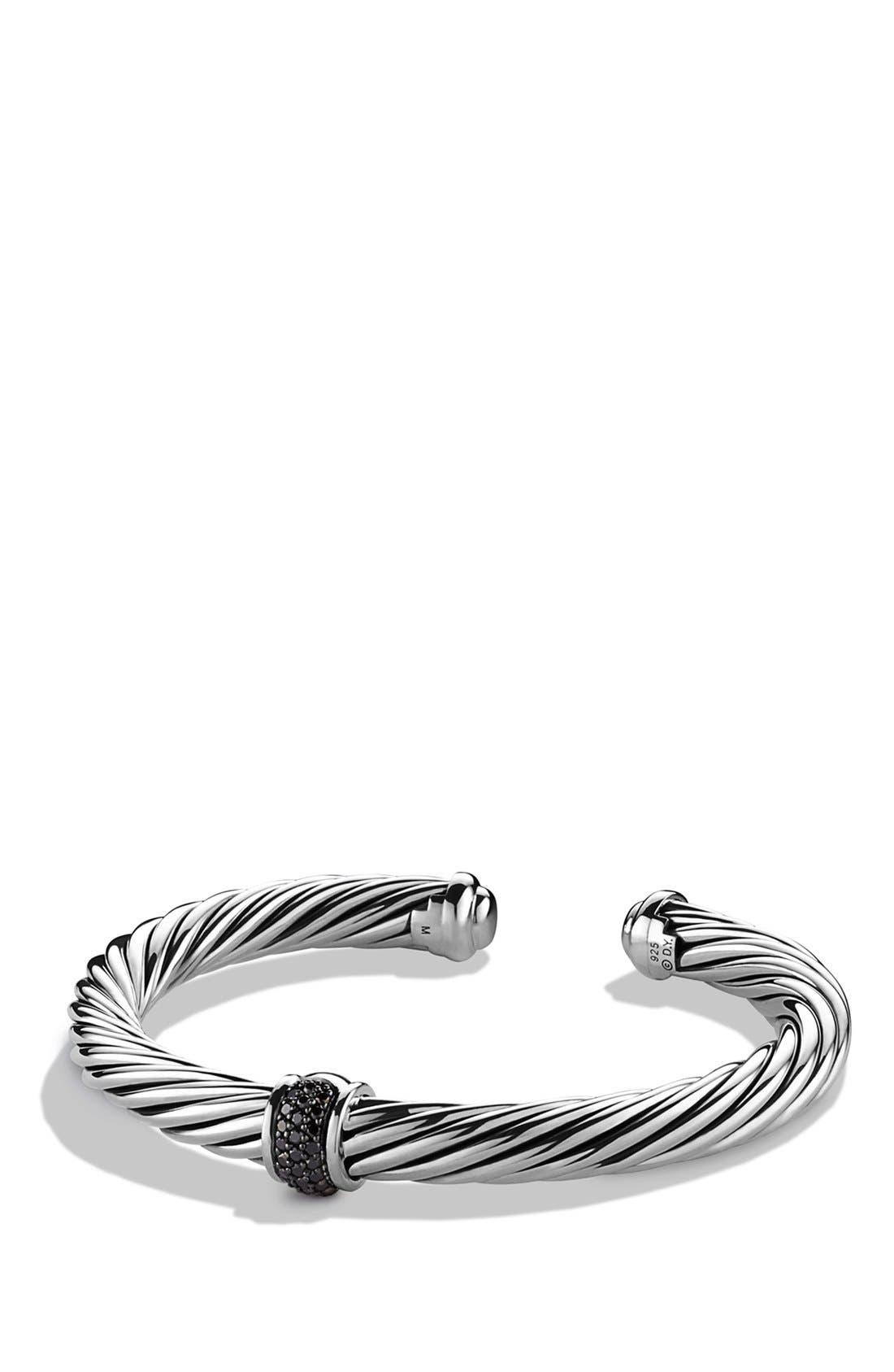 David Yurman 'Cable Classics' Bracelet with Black Diamonds