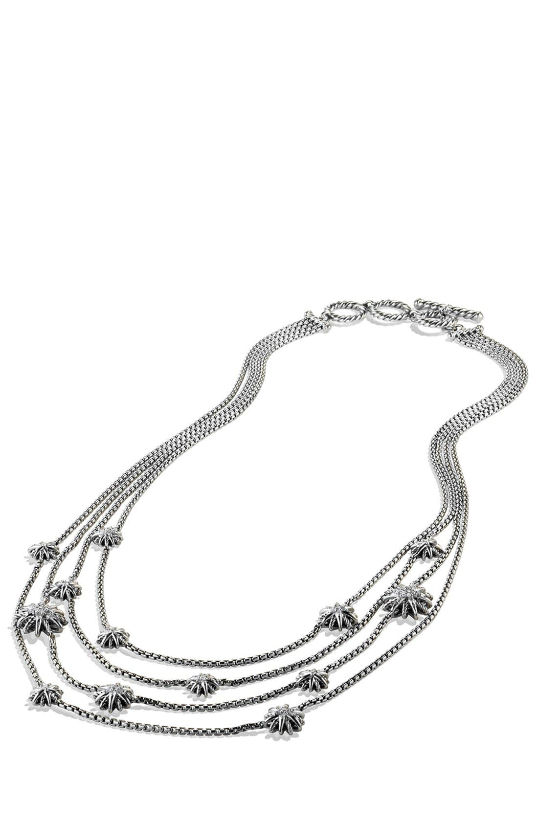 Alternate Image 2  - David Yurman 'Starburst' Chain Necklace with Diamonds