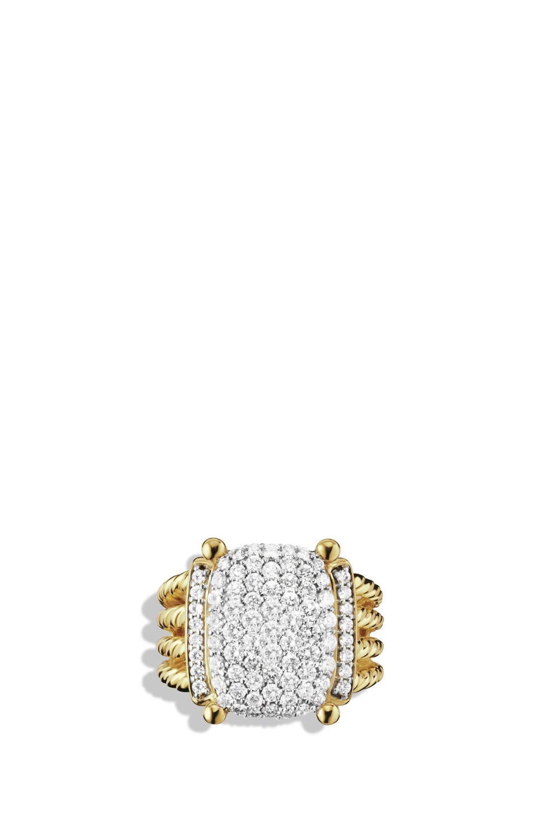 Alternate Image 3  - David Yurman 'Wheaton' Ring with Diamonds in Gold