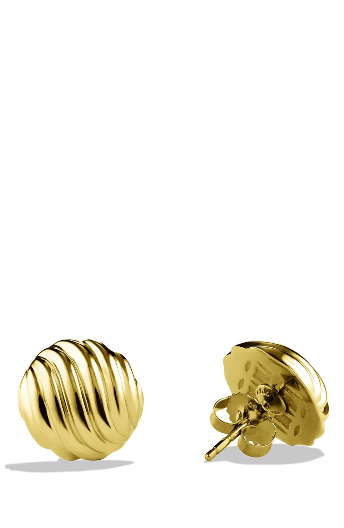 'Sculpted Cable' Earrings in Gold,                             Alternate thumbnail 2, color,                             Gold