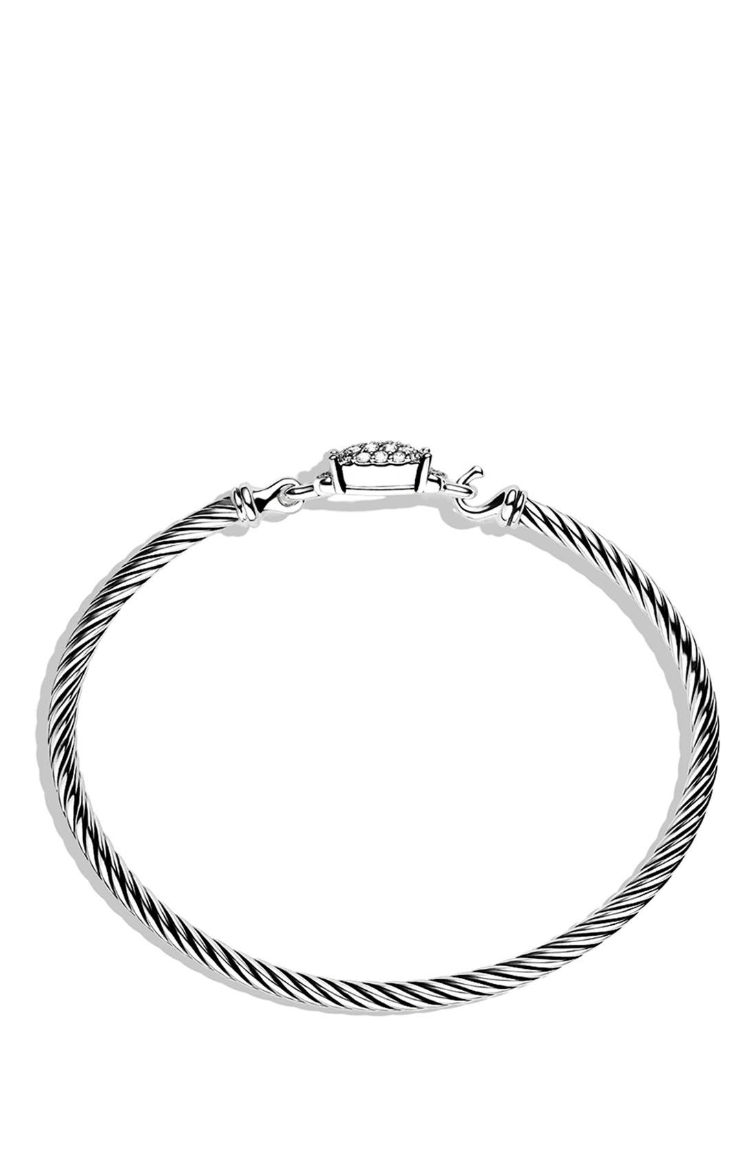 Alternate Image 2  - David Yurman 'Petite Wheaton' Bracelet with Diamonds