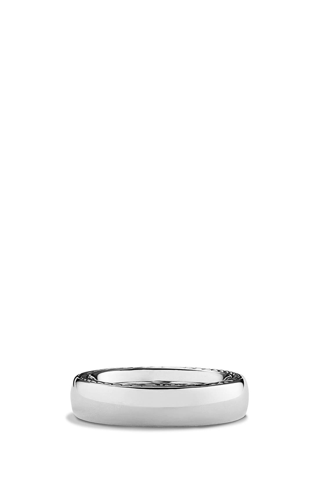 'Streamline' Band Ring,                         Main,                         color, Silver