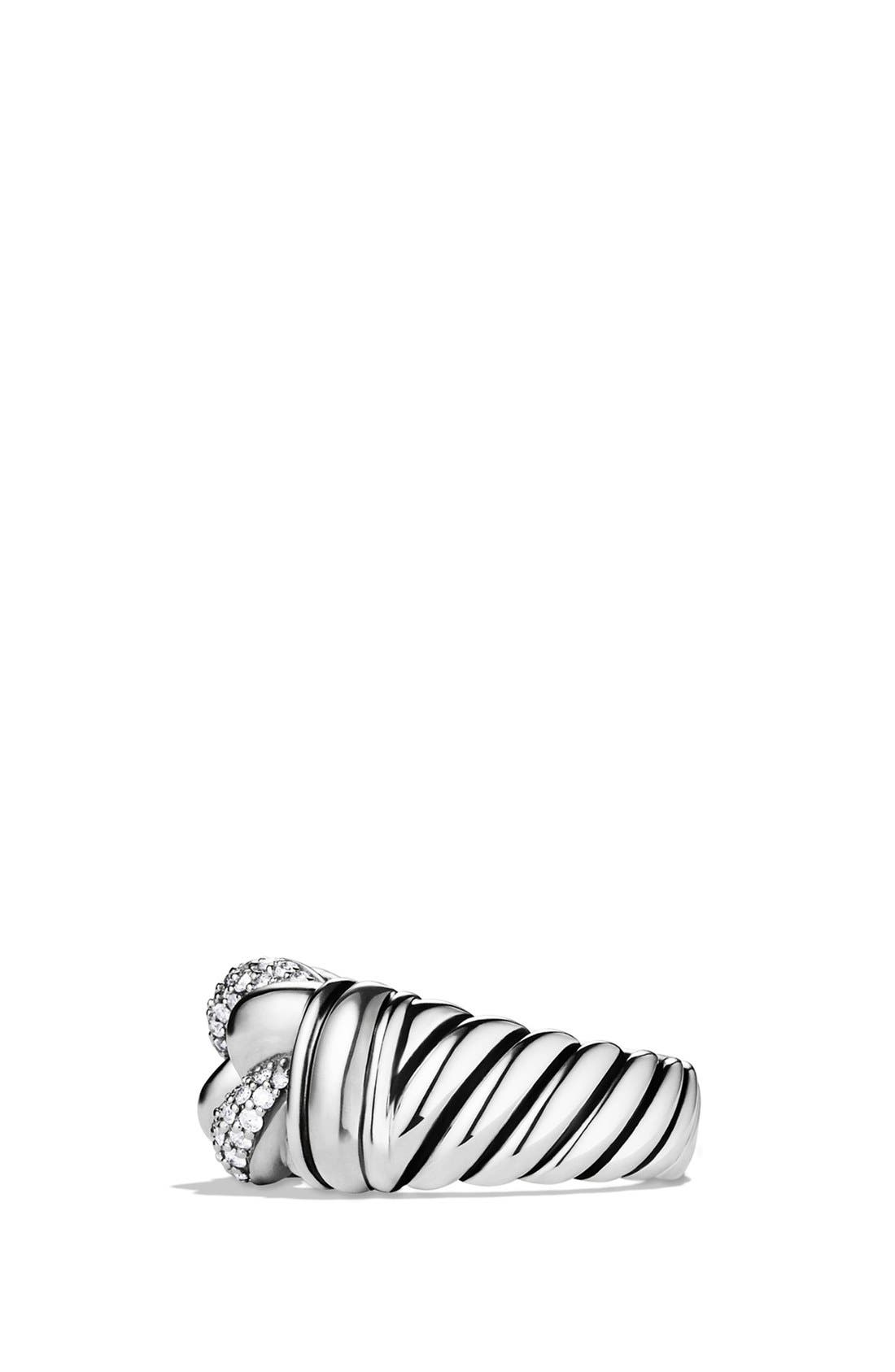 Alternate Image 4  - David Yurman 'Metro' Curb Wide Ring with Diamonds