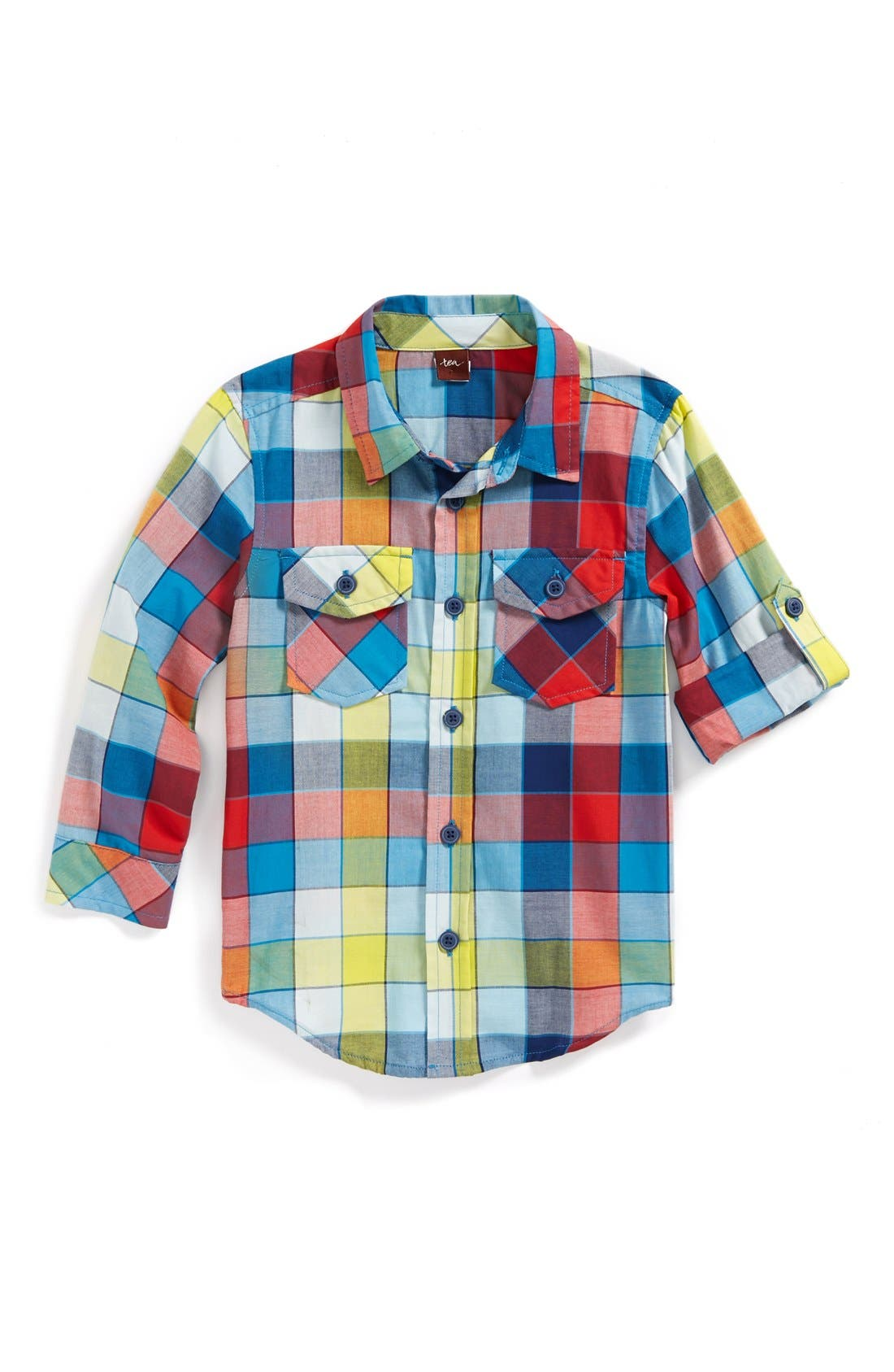 Alternate Image 1 Selected - Tea Collection 'Medina' Plaid Shirt (Toddler Boys)
