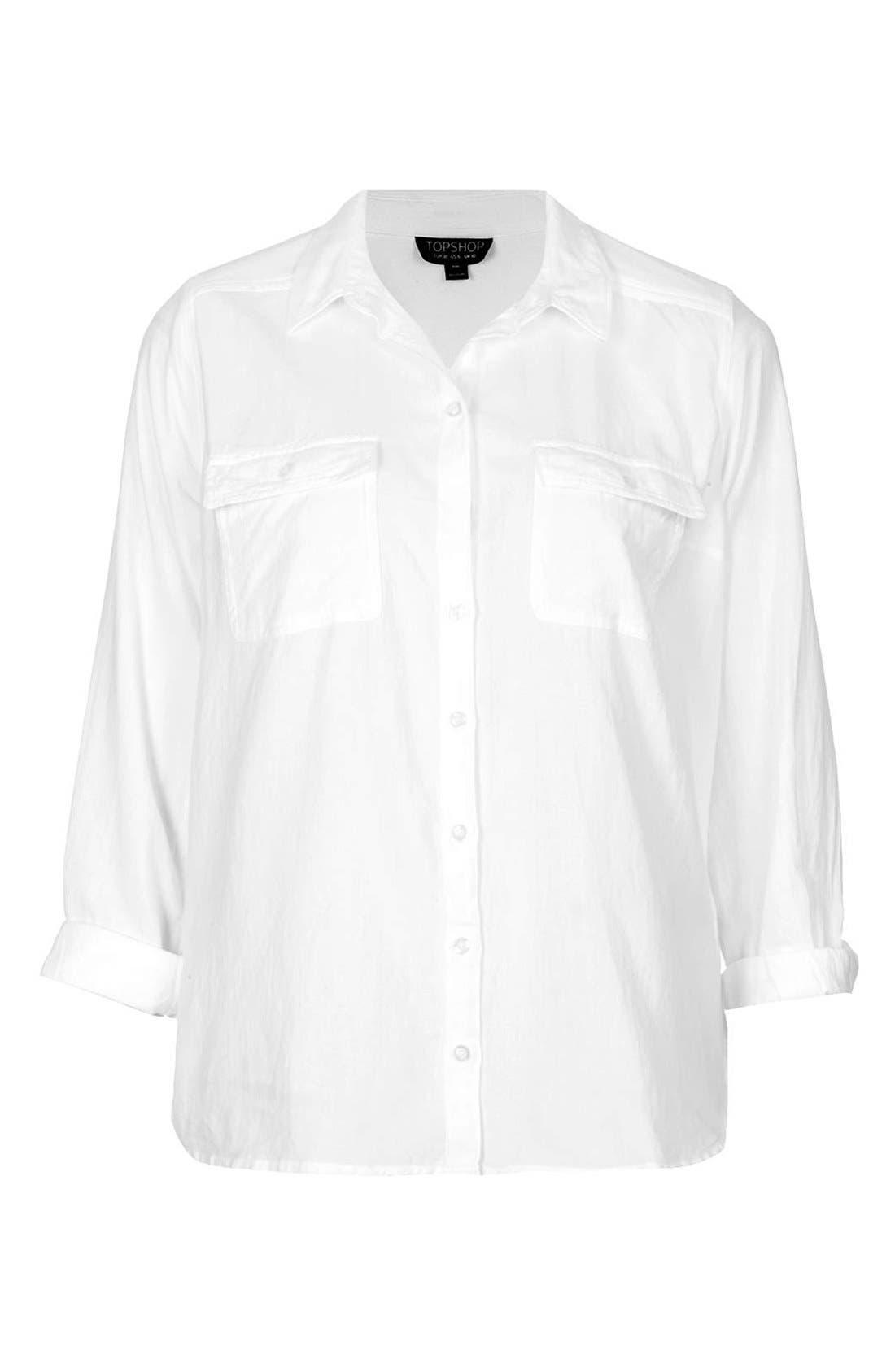 Alternate Image 3  - Topshop Chambray Utility Shirt