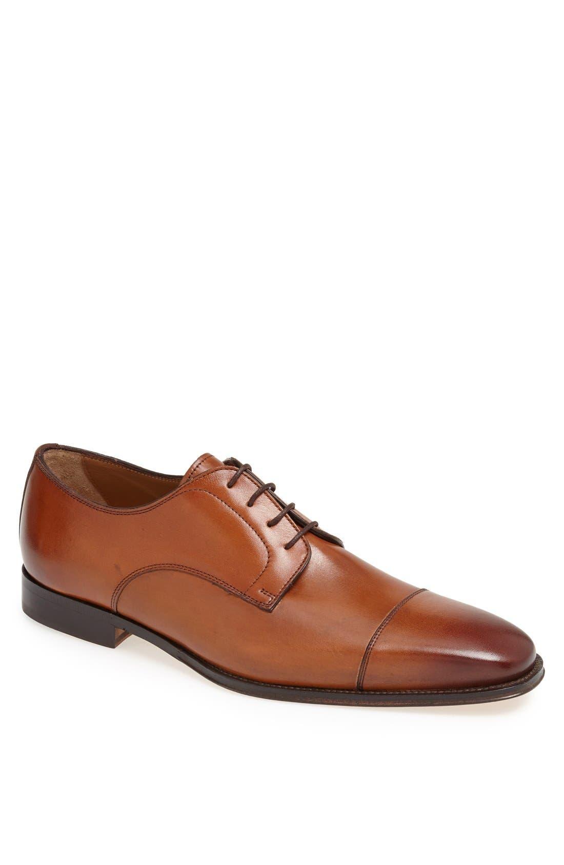 Classico Cap Toe Oxford,                         Main,                         color, Cognac