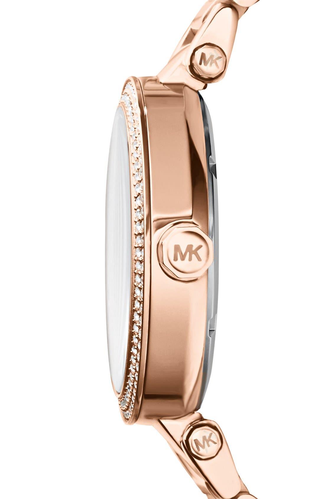 Alternate Image 3  - Michael Kors Parker Logo Dial Bracelet Watch, 39mm