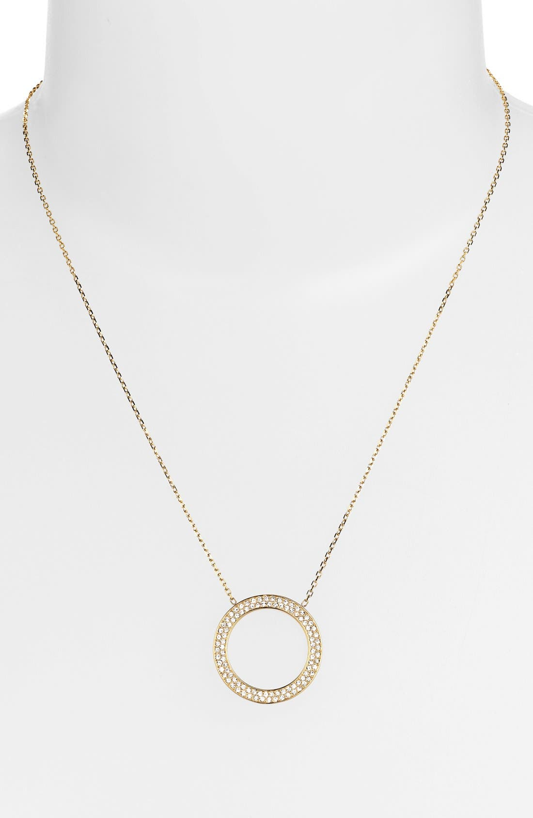 Alternate Image 1 Selected - Michael Kors 'Statement Brilliance' Circle Pendant Necklace