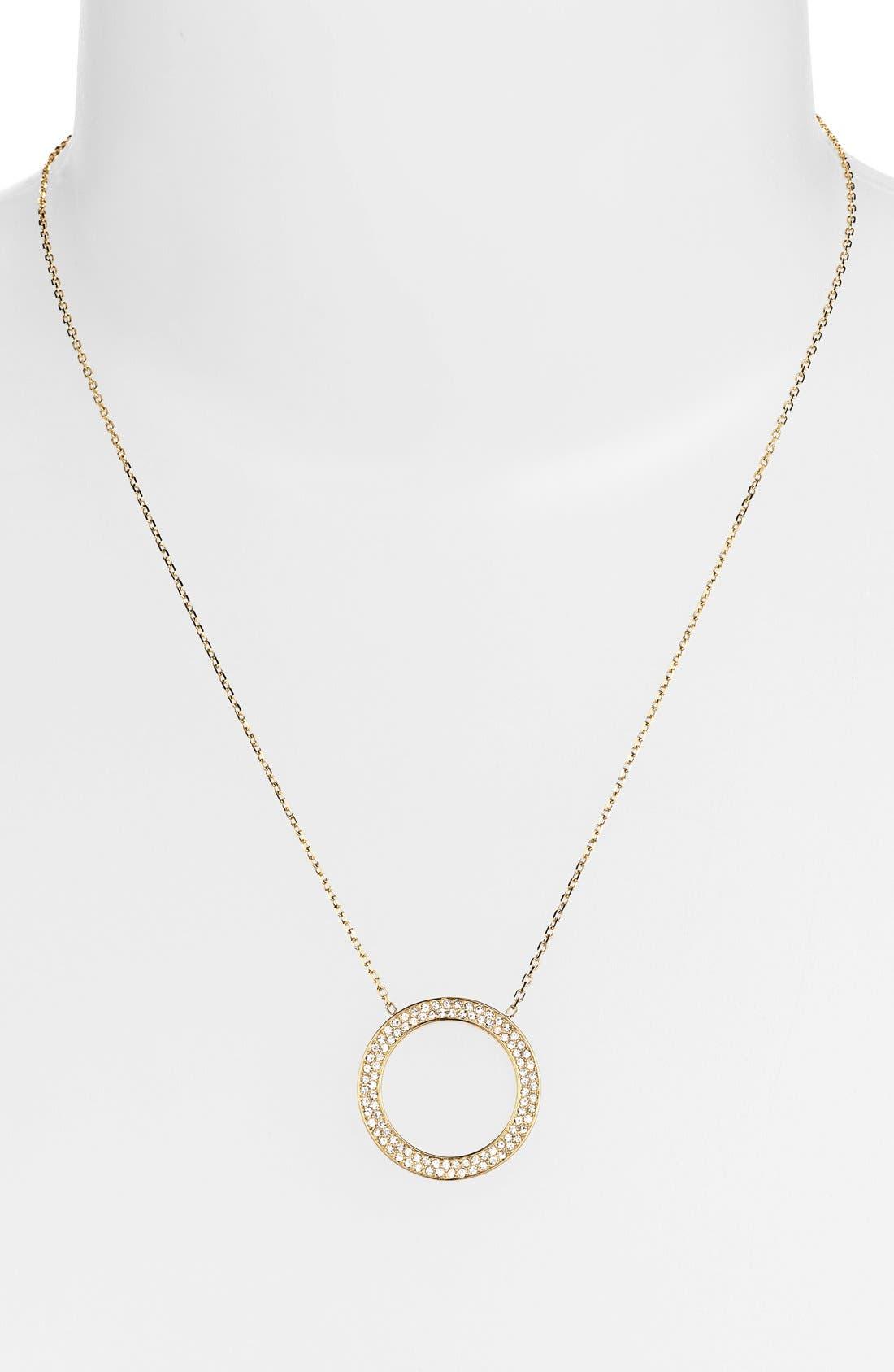 Main Image - Michael Kors 'Statement Brilliance' Circle Pendant Necklace