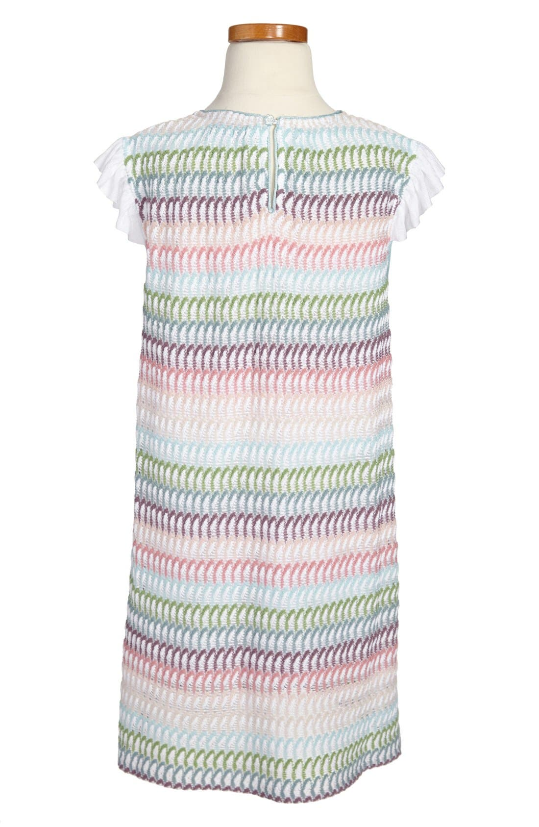 Alternate Image 2  - Missoni Stripe Petal Flutter Sleeve Dress (Toddler Girls, Little Girls & Big Girls)