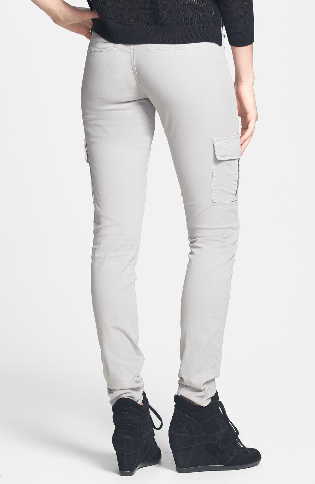 Alternate Image 2  - Articles of Society 'Mya' Cargo Skinny Jeans (Grey) (Juniors) (Online Only)