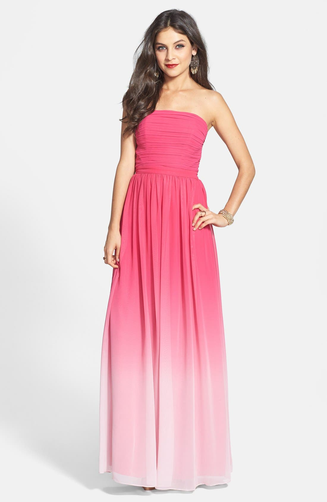 Alternate Image 1 Selected - ERIN erin fetherston 'Isabelle' Ombré Chiffon Gown