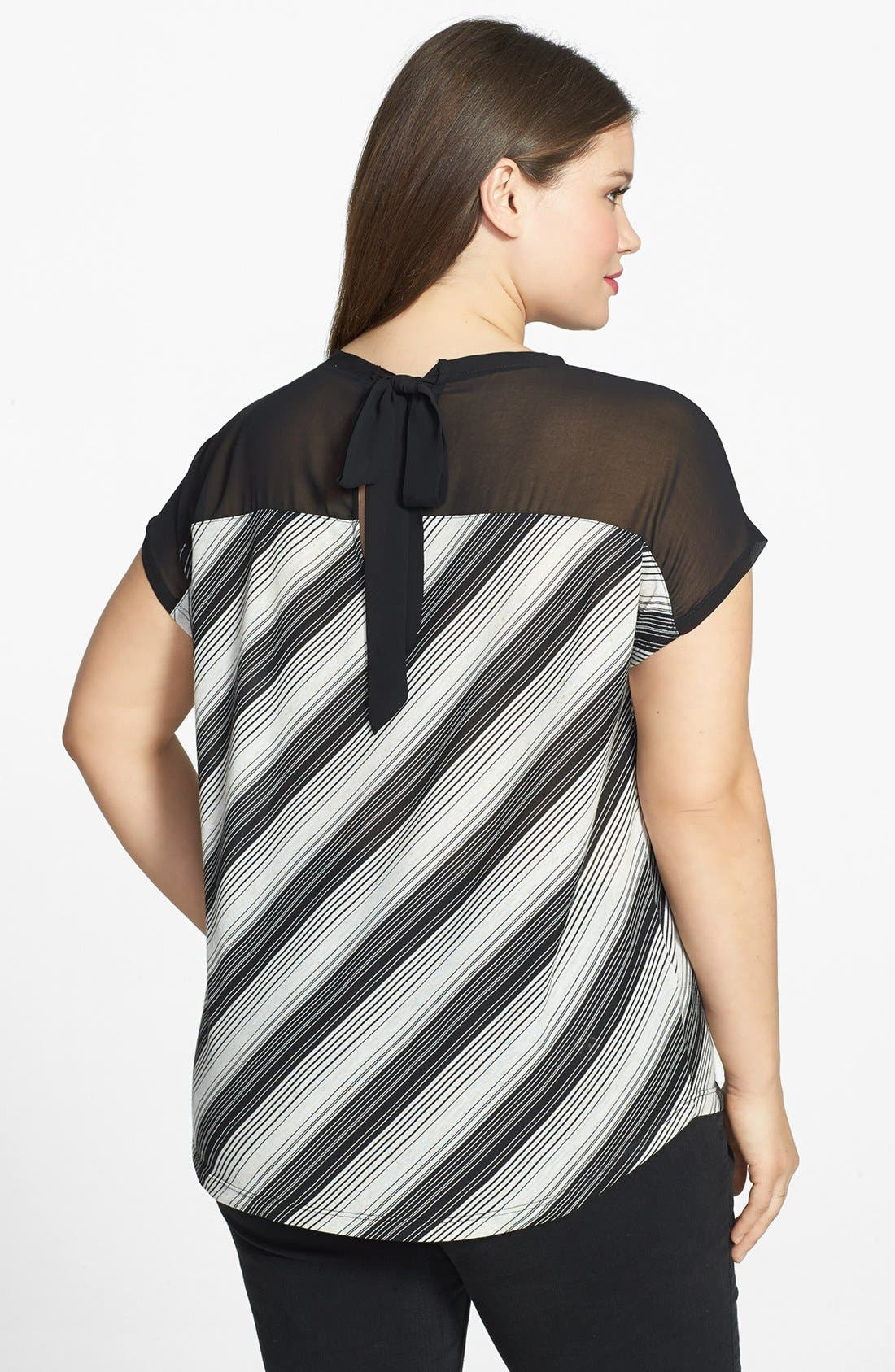 Alternate Image 2  - Two by Vince Camuto Mixed Media Top (Plus Size)