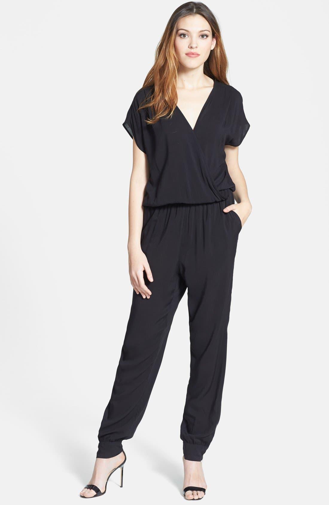 Alternate Image 1 Selected - Olivia Moon Wrap Top Jumpsuit (Regular & Petite)