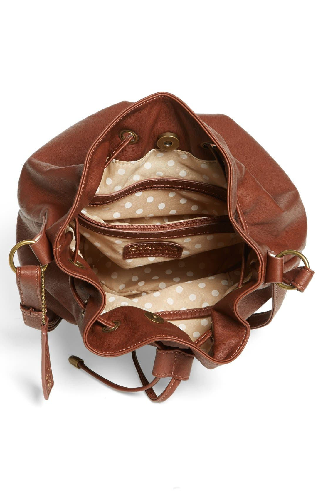 Alternate Image 3  - KENDALL + KYLIE Madden Girl Quilted Faux Leather Bucket Bag (Juniors)