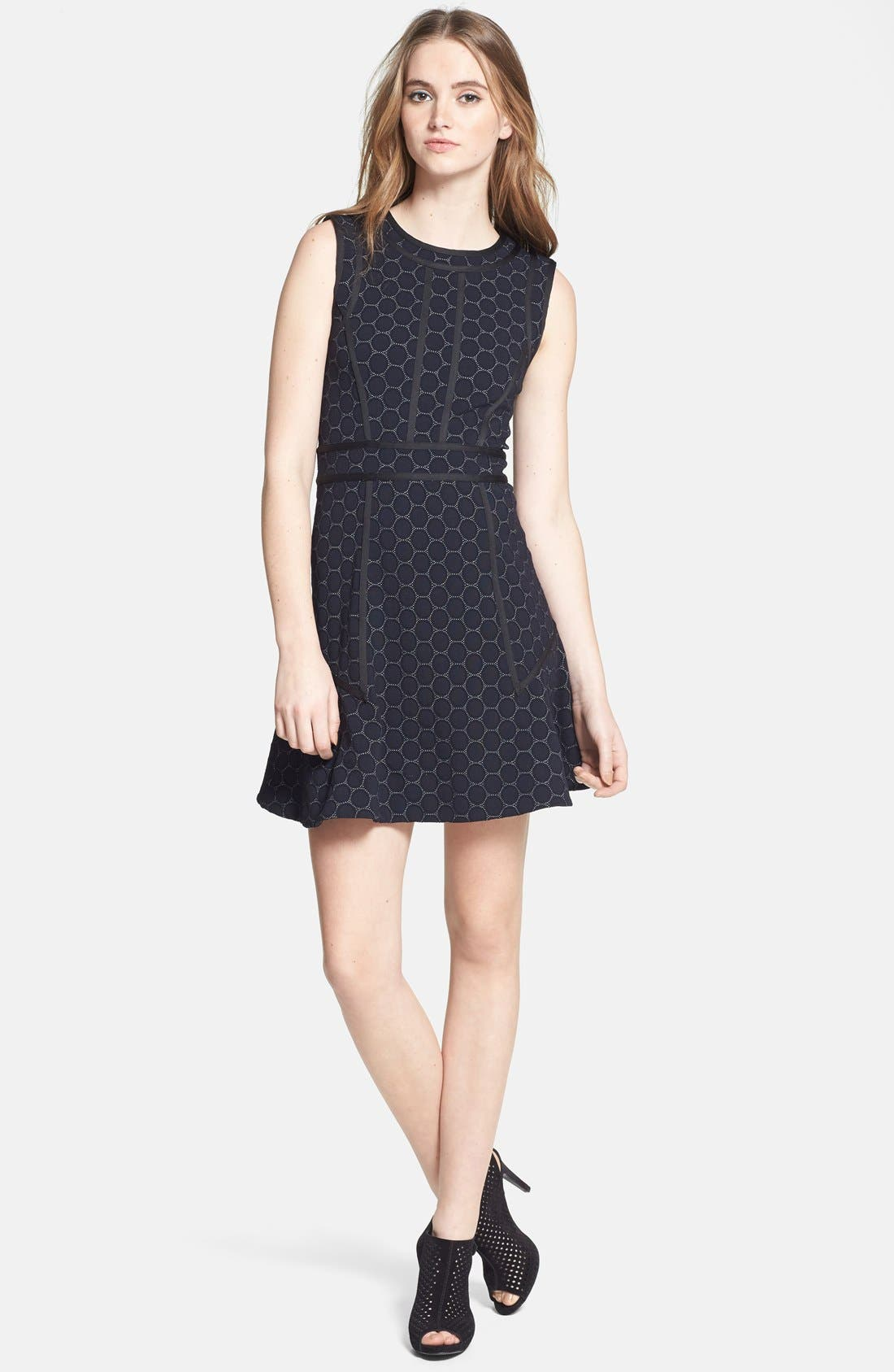 Alternate Image 1 Selected - MARC BY MARC JACOBS 'Leyna Dotty' Ponte Shift Dress