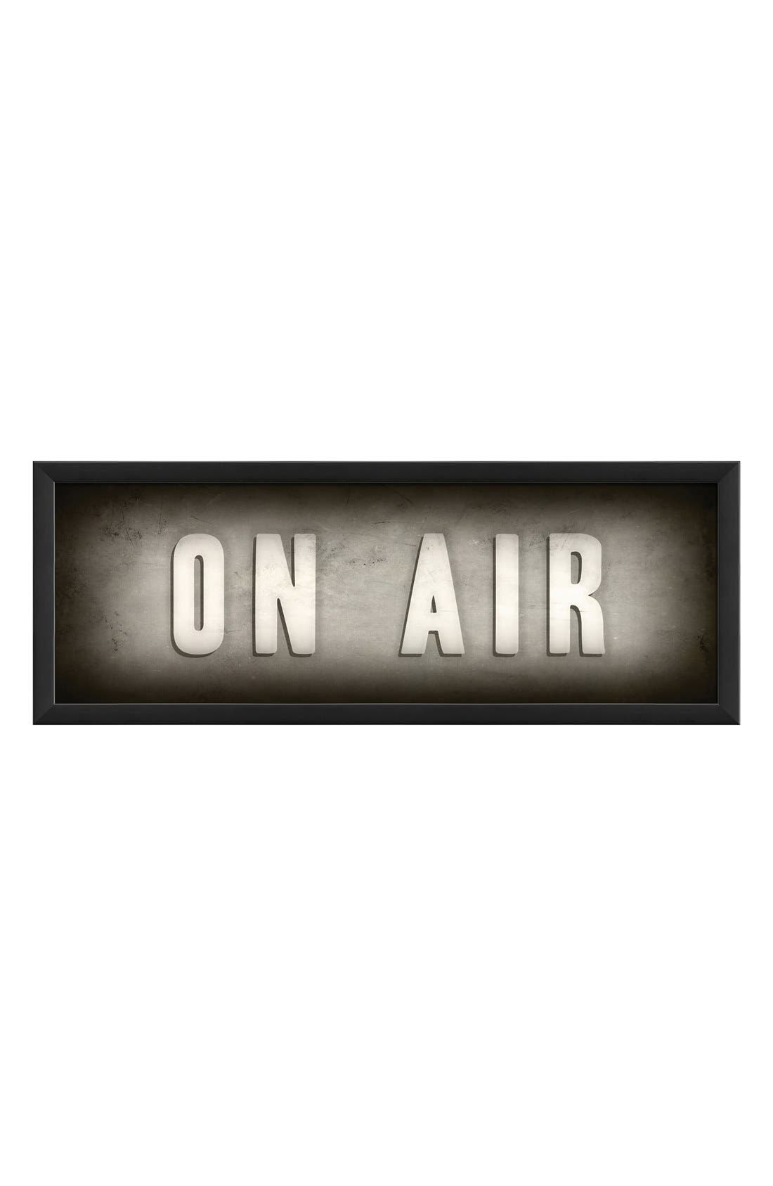 Main Image - Spicher and Company 'On Air' Vintage Look Theater Sign Artwork