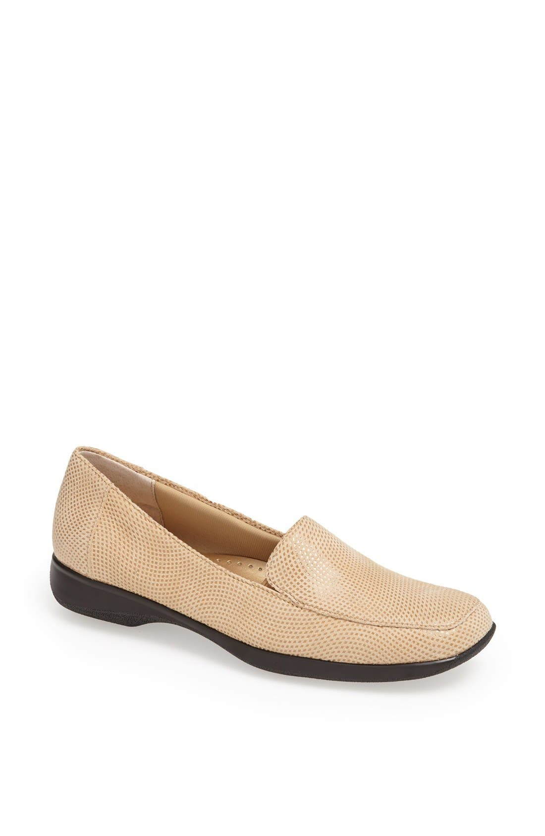 'Jenn' Loafer,                             Main thumbnail 1, color,                             Nude Mini Dot